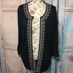 Cynthia Rowley Woman Embroidered Cardigan Sweater